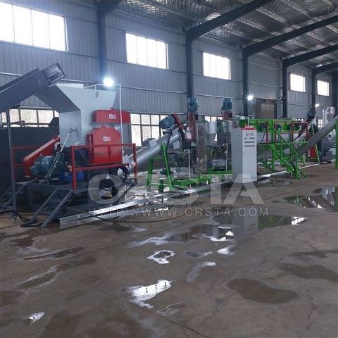 塑料溶液桶处理清洗破碎生产线