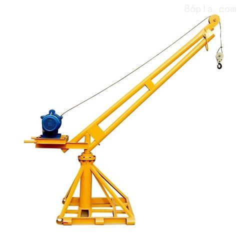 建筑工地简易吊机-室外楼房上料吊机价格
