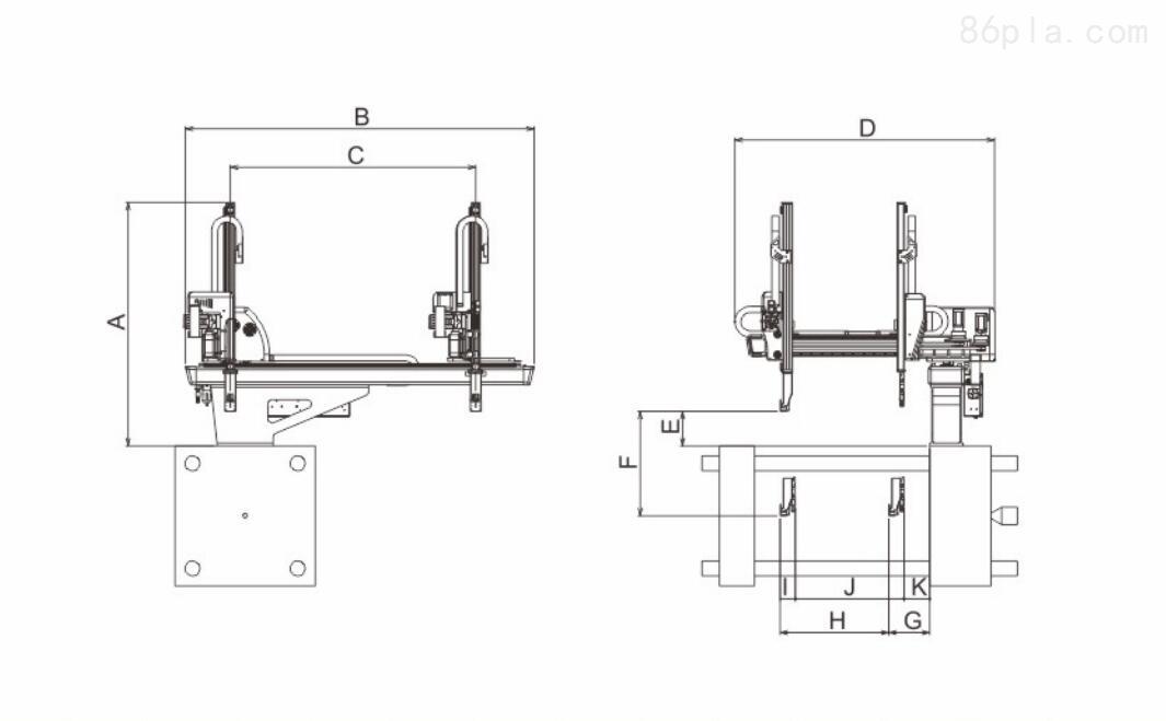 五轴单截伺服机械手,注塑专用机械手